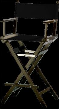 Makeup stol / Instruktørstol - ( Sort )